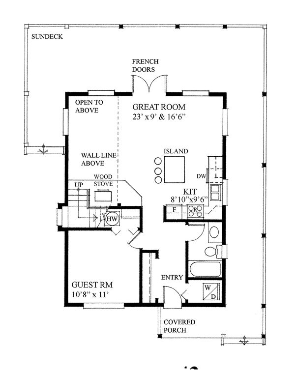 Cottage Floor Plan - Main Floor Plan Plan #118-169