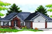 Traditional Style House Plan - 5 Beds 3.5 Baths 2003 Sq/Ft Plan #70-618 Exterior - Front Elevation