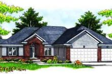 Architectural House Design - Traditional Exterior - Front Elevation Plan #70-618