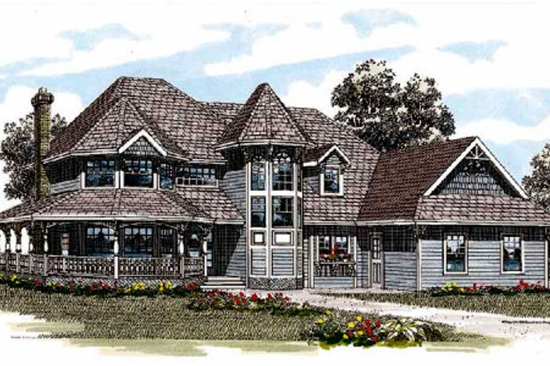 Country Style House Plan - 4 Beds 2.5 Baths 2551 Sq/Ft Plan #47-289 Exterior - Front Elevation