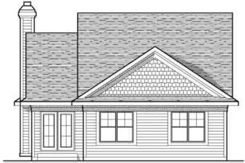 Traditional Exterior - Rear Elevation Plan #70-675 - Houseplans.com