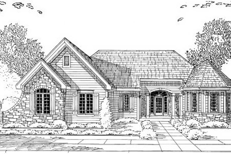Traditional Exterior - Other Elevation Plan #46-430 - Houseplans.com