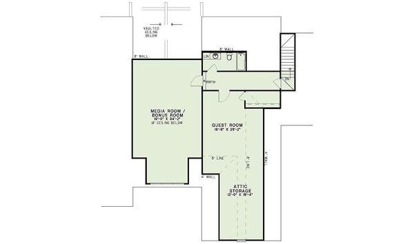 European Floor Plan - Upper Floor Plan Plan #17-2539