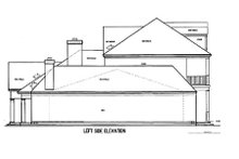 Home Plan Design - Southern Exterior - Other Elevation Plan #45-179