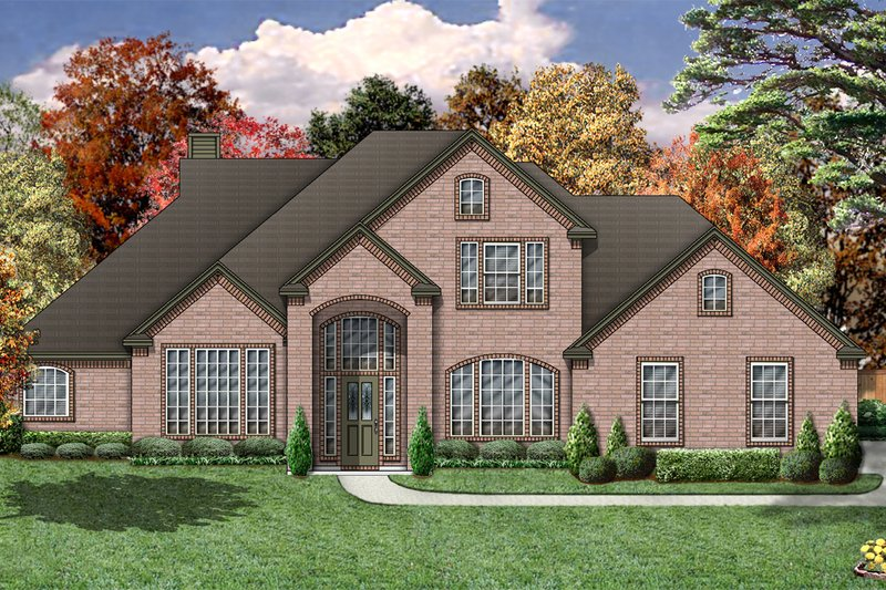 Traditional Exterior - Front Elevation Plan #84-372 - Houseplans.com