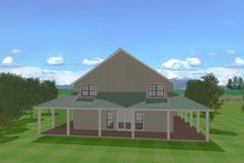 Country Exterior - Rear Elevation Plan #923-97