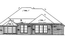 House Plan Design - European Exterior - Rear Elevation Plan #310-682