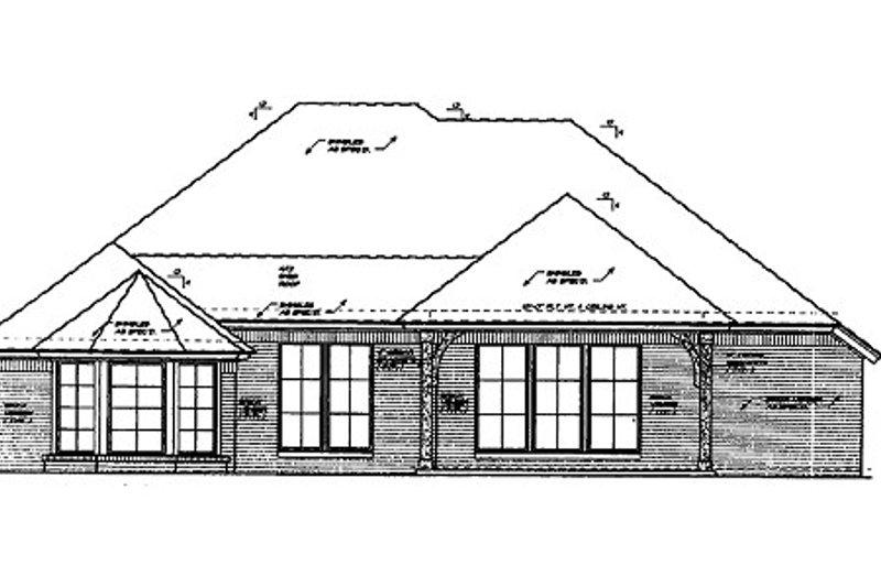 European Exterior - Rear Elevation Plan #310-682 - Houseplans.com