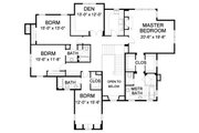 Farmhouse Style House Plan - 5 Beds 4.5 Baths 4427 Sq/Ft Plan #490-8 Floor Plan - Upper Floor Plan