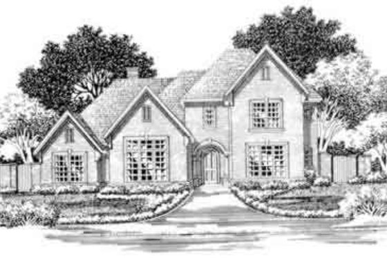 European Exterior - Front Elevation Plan #141-112