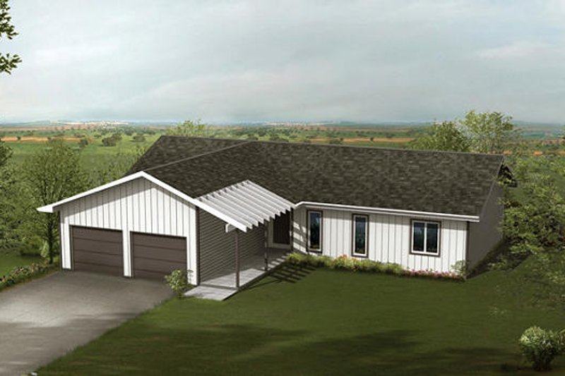Ranch Style House Plan - 3 Beds 2 Baths 1504 Sq/Ft Plan #57-231