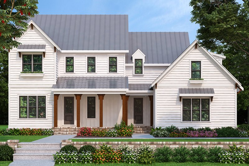 Farmhouse Exterior - Front Elevation Plan #927-981