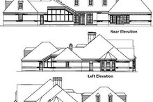 European Exterior - Rear Elevation Plan #410-119