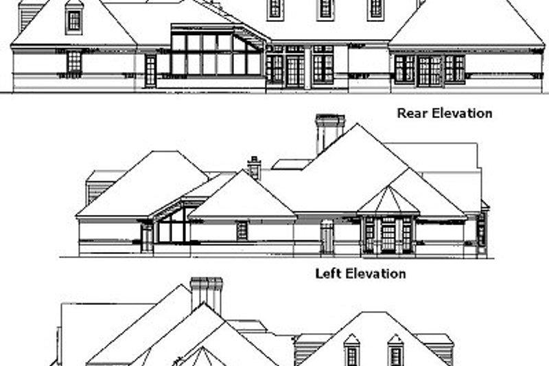 European Exterior - Rear Elevation Plan #410-119 - Houseplans.com