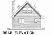 Cabin Style House Plan - 2 Beds 1 Baths 761 Sq/Ft Plan #18-4501 Exterior - Rear Elevation