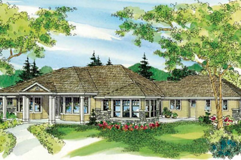 Dream House Plan - Ranch Exterior - Front Elevation Plan #124-752
