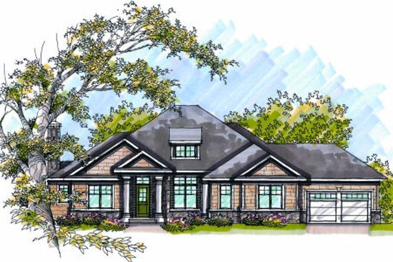 Home Plan - Bungalow Exterior - Front Elevation Plan #70-985