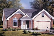 Traditional Style House Plan - 3 Beds 2 Baths 1268 Sq/Ft Plan #57-180 Exterior - Front Elevation