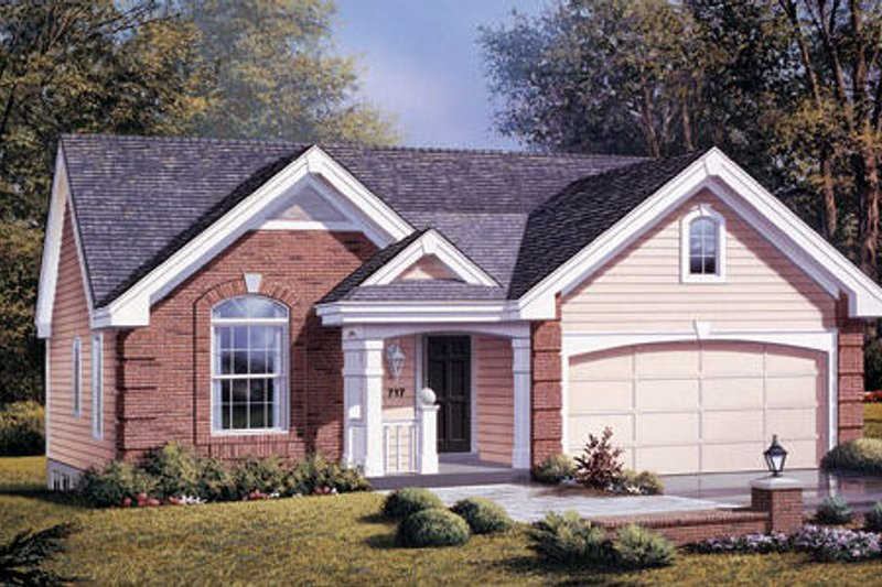Traditional Exterior - Front Elevation Plan #57-180 - Houseplans.com