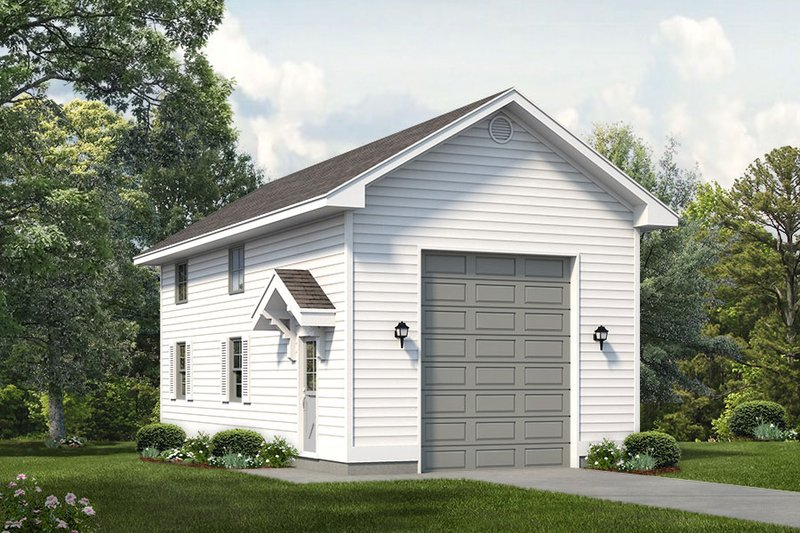 Exterior - Front Elevation Plan #47-1068