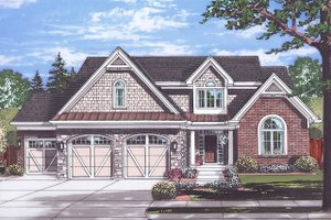 Dream House Plan - Country Exterior - Front Elevation Plan #46-880