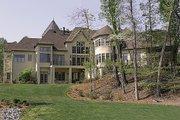 European Style House Plan - 6 Beds 5.5 Baths 7480 Sq/Ft Plan #453-23 Exterior - Rear Elevation