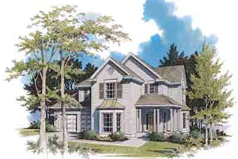 Farmhouse Exterior - Front Elevation Plan #48-210