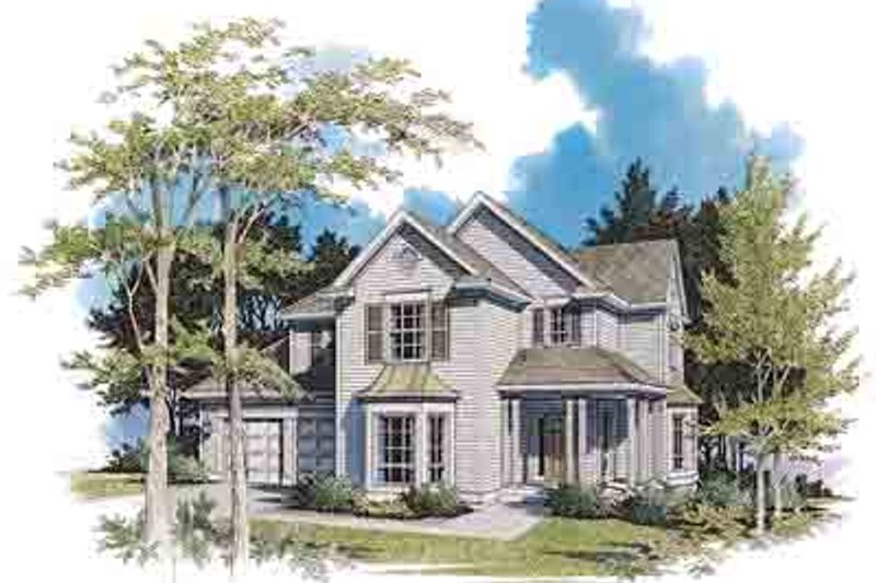 Home Plan - Farmhouse Exterior - Front Elevation Plan #48-210