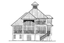 House Plan Design - Traditional Exterior - Rear Elevation Plan #930-121