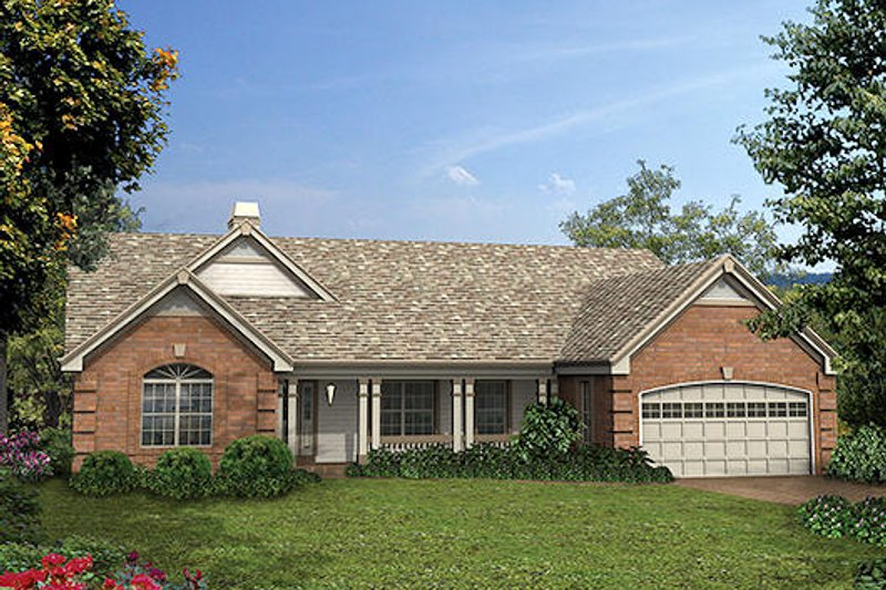 Southern Exterior - Front Elevation Plan #57-325 - Houseplans.com