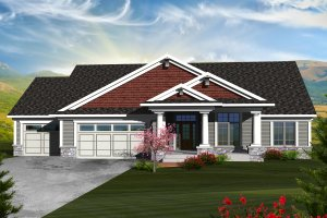 House Plan Design - Ranch Exterior - Front Elevation Plan #70-1124