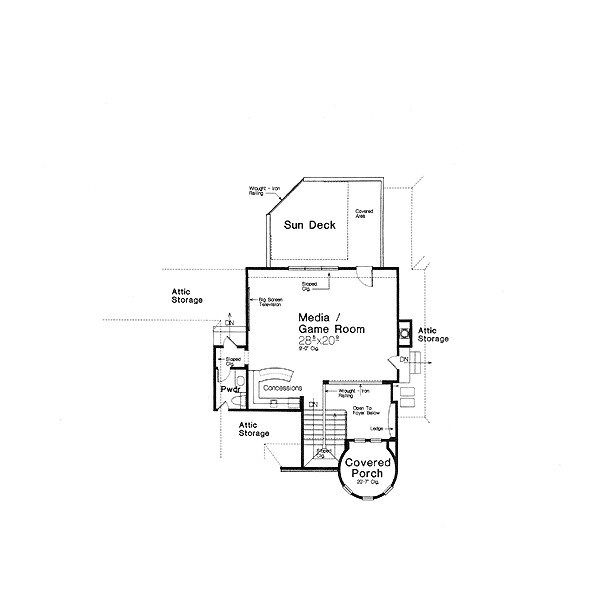 European Floor Plan - Other Floor Plan Plan #310-707
