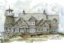 Home Plan - Country Exterior - Front Elevation Plan #54-327