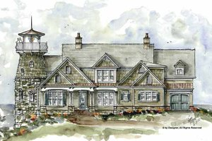Country Exterior - Front Elevation Plan #54-327
