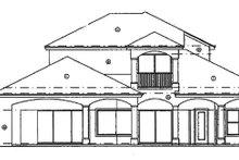 House Plan Design - Mediterranean Exterior - Rear Elevation Plan #417-572