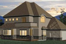Country Exterior - Rear Elevation Plan #937-3