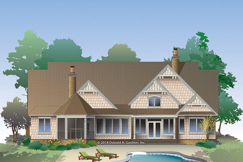 Craftsman Exterior - Rear Elevation Plan #929-988 - Houseplans.com