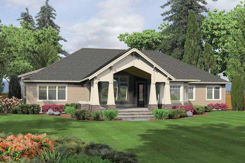 Ranch Exterior - Rear Elevation Plan #132-553 - Houseplans.com