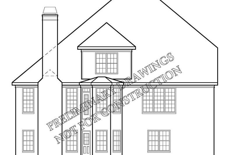 Country Exterior - Rear Elevation Plan #927-893 - Houseplans.com