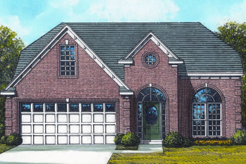 Traditional Style House Plan - 3 Beds 2.5 Baths 2048 Sq/Ft Plan #424-112 Exterior - Front Elevation