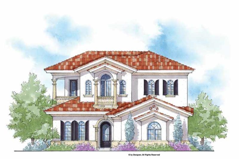 Mediterranean Exterior - Front Elevation Plan #938-28 - Houseplans.com