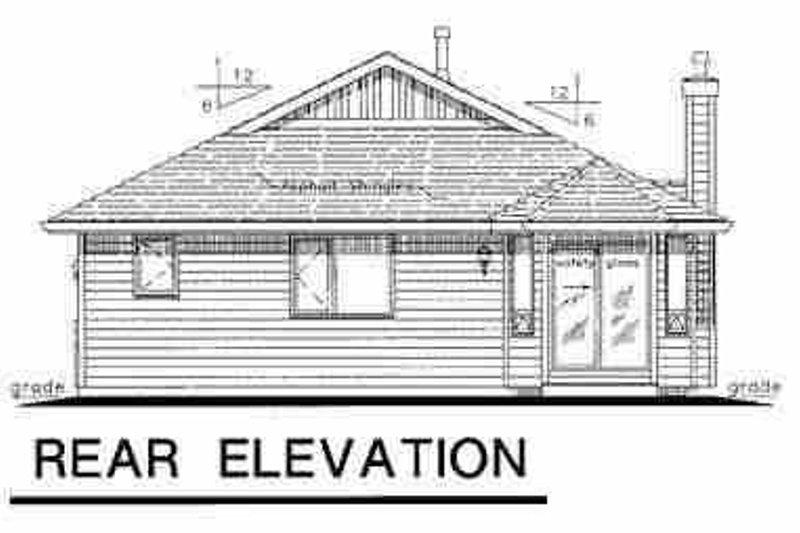 Traditional Exterior - Rear Elevation Plan #18-1033 - Houseplans.com
