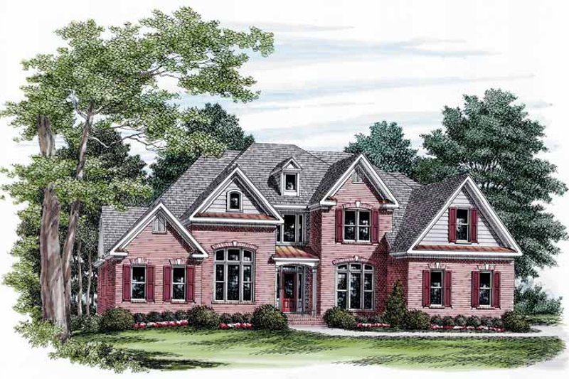 Dream House Plan - Traditional Exterior - Front Elevation Plan #927-571