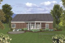 Dream House Plan - Traditional Exterior - Rear Elevation Plan #56-691