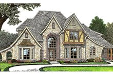 Dream House Plan - European Exterior - Front Elevation Plan #310-643