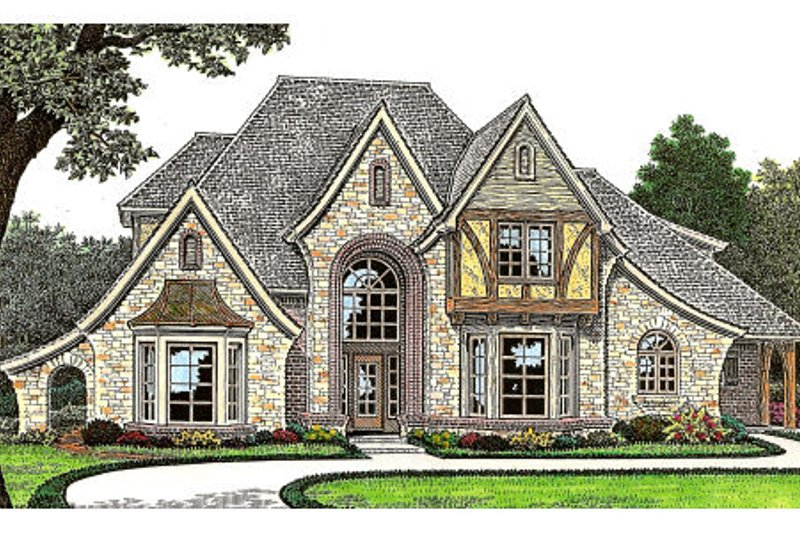 European Exterior - Front Elevation Plan #310-643