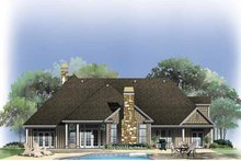 House Plan Design - Country Exterior - Rear Elevation Plan #929-759