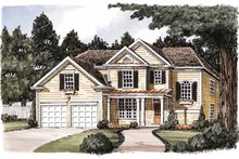 House Design - Country Exterior - Front Elevation Plan #927-589