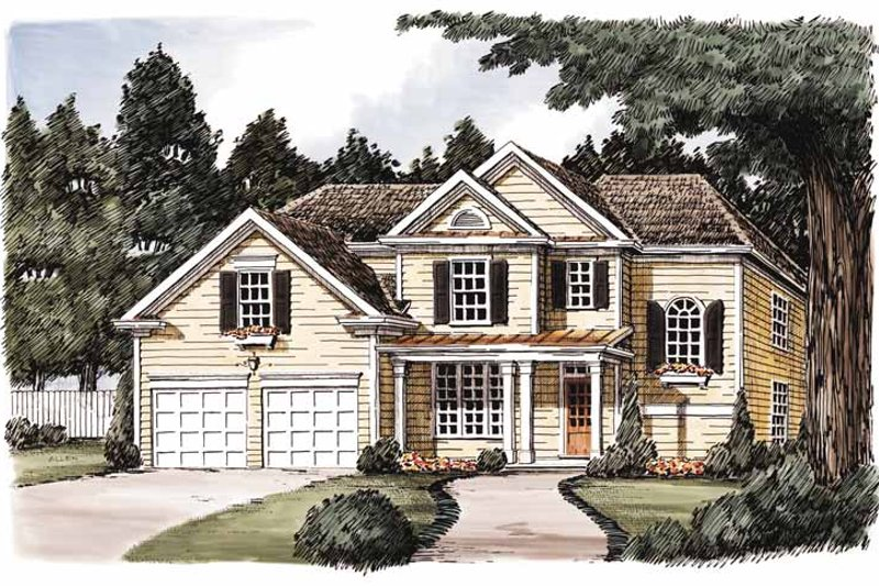 Architectural House Design - Country Exterior - Front Elevation Plan #927-589