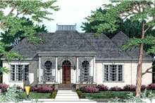 Dream House Plan - European Exterior - Front Elevation Plan #406-185